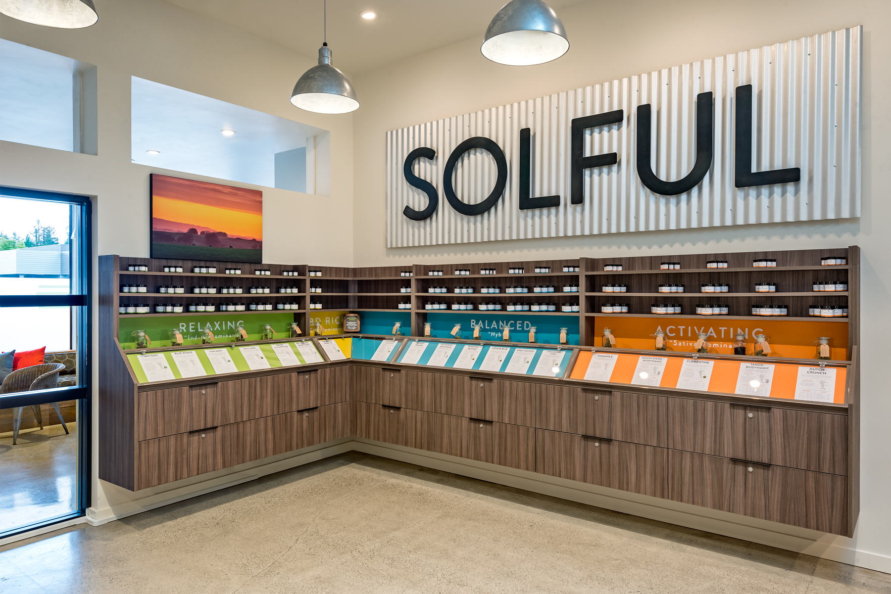 picture of Solful Dispensary product display stands